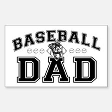 Baseball Dad Sticker (Rectangle)