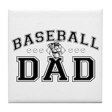 Baseball Dad Tile Coaster