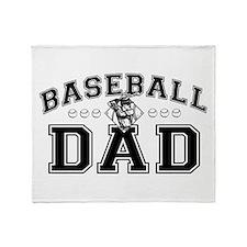 Baseball Dad Throw Blanket