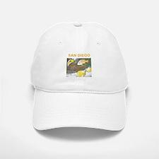 GREETINGS FROM SAN DIEGO, FISH. TWOSTARS. Baseball Baseball Cap