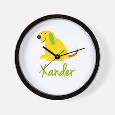 Xander Loves Puppies Wall Clock