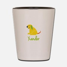 Xander Loves Puppies Shot Glass