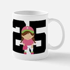 Softball Player Uniform Number 25 Mug
