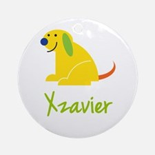 Xzavier Loves Puppies Ornament (Round)