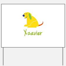 Xzavier Loves Puppies Yard Sign