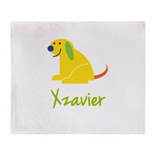 Xzavier Loves Puppies Throw Blanket