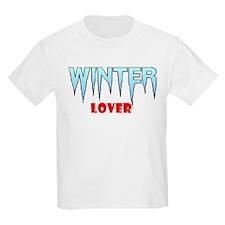 WINTER LOVER Kids T-Shirt
