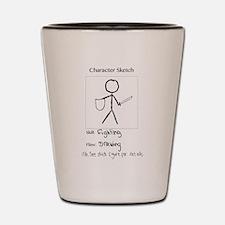 Character Sketch Shot Glass