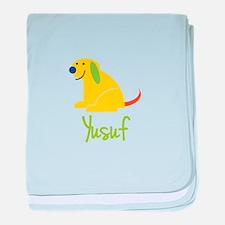 Yusuf Loves Puppies baby blanket