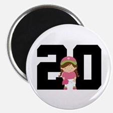 Softball Player Uniform Number 20 Magnet
