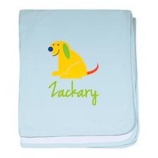 Zackary Loves Puppies baby blanket