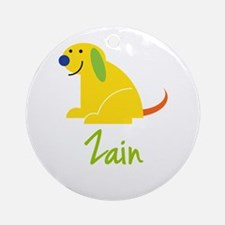 Zain Loves Puppies Ornament (Round)