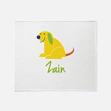 Zain Loves Puppies Throw Blanket