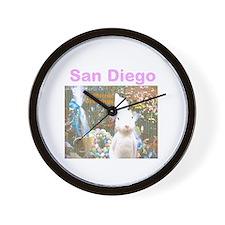 SAN DIEGO, RABBIT. TWOSTARS. Wall Clock