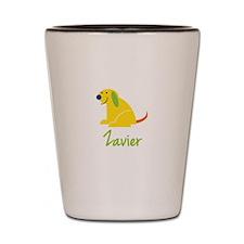 Zavier Loves Puppies Shot Glass