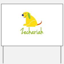 Zechariah Loves Puppies Yard Sign