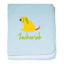 Zechariah Loves Puppies baby blanket