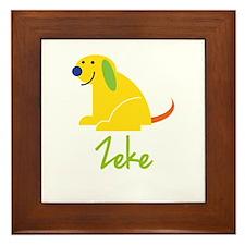 Zeke Loves Puppies Framed Tile