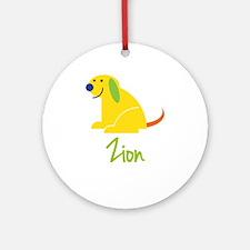 Zion Loves Puppies Ornament (Round)