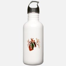 Albanian Flag in Real heart Water Bottle