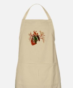 Albanian Flag in Real heart Apron