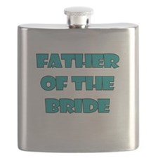 FATHER OF THE BRIDE TEAL Flask