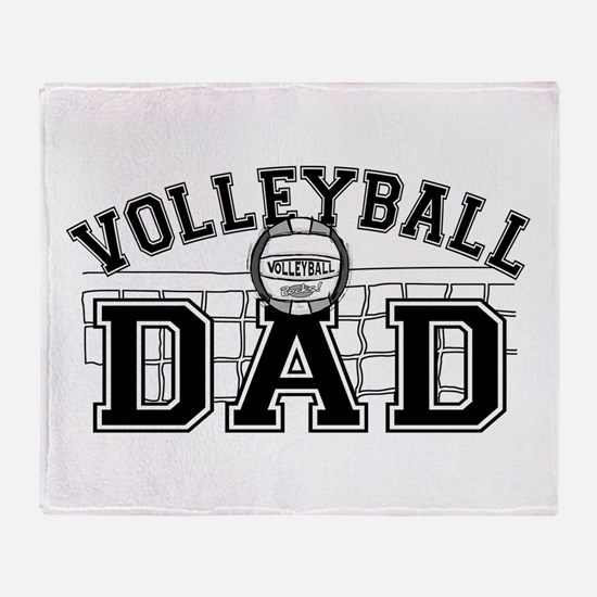 Volleyball Dad Throw Blanket