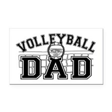 Volleyball Dad Rectangle Car Magnet