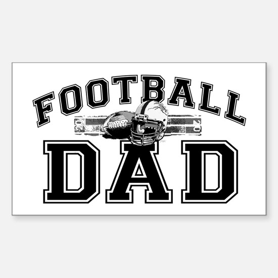 Football Dad Sticker (Rectangle)