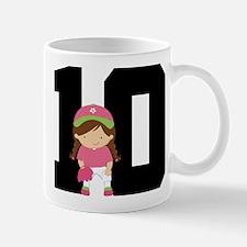 Softball Player Uniform Number 10 Mug