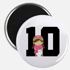 Softball Player Uniform Number 10 Magnet
