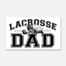 Lacrosse Dad Rectangle Car Magnet