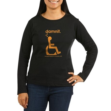 damnit.wheelchair Womens Longsleeve Brown/Orange T