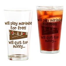 funny marimba Drinking Glass