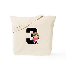 Softball Player Uniform Number 3 Tote Bag