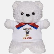 PUNISH THE DEED NOT THE BREED Teddy Bear