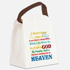 A Mansion In Heaven Canvas Lunch Bag