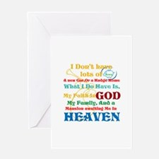 A Mansion In Heaven Greeting Card