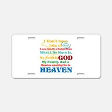 A Mansion In Heaven Aluminum License Plate