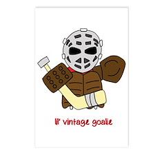 Lil Vintage Hockey Goalie Postcards (Package of 8)