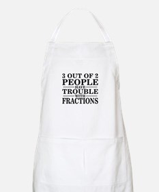 Sayings: Trouble With Fractions BBQ Apron