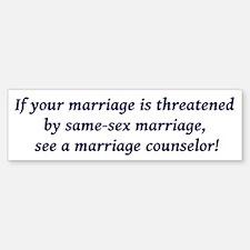 Marriage counselor Bumper Bumper Bumper Sticker