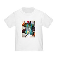 Picasso Green Cello Plant in a Pot Art T-Shirt