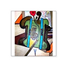 Picasso Green Cello Plant in a Pot Art Sticker
