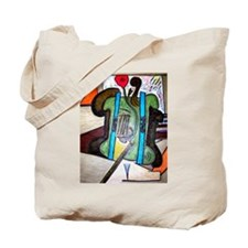 Picasso Green Cello Plant in a Pot Art Tote Bag