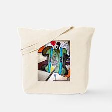 Picasso Green Cello Plant in a Pot Art Tote Bag