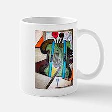 Picasso Green Cello Plant in a Pot Art Mug