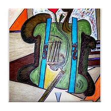 Picasso Green Cello Plant in a Pot Art Tile Coaste