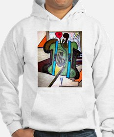 Picasso Green Cello Plant in a Pot Art Hoodie