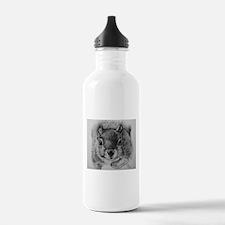 Squirrel Sketch Water Bottle